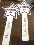 PAM DELLOS Stars like these may be purchased for the Light Up the Night Cancer Fundraiser.